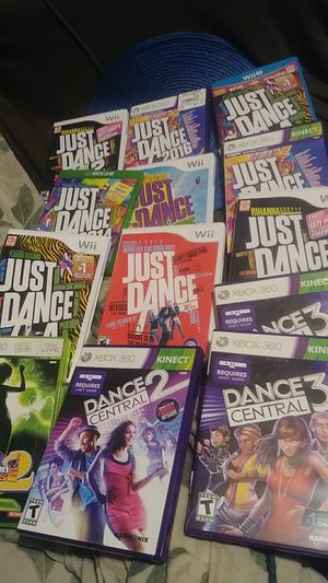 JUST DANCE WII 360 WII U XBOX ONE GAMES 8 EQCH for Sale in Newark, OH