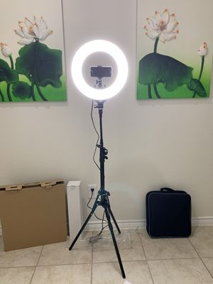 """14"""" LED Dimmable Ring Light for Sale in Anna, TX"""