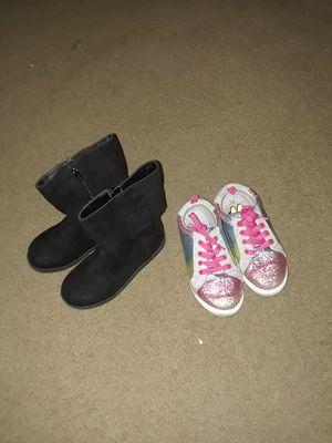 Girls shoe size 12 boot barley use it $ 5 tenies $2 for Sale in San Antonio, TX