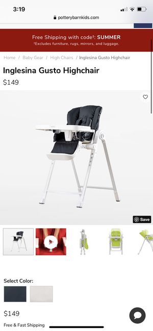 Inglesina Gusto High Chair NEW IN BOX cream color for Sale in Decatur, GA