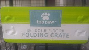 "Toppaw 36 "" double door folding dog crate for Sale in Fort Hood, TX"