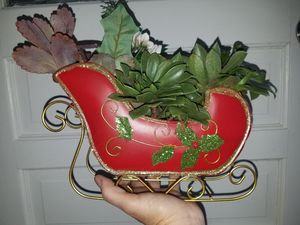 Sleigh with succulents gift for Sale in San Diego, CA