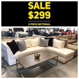 White 2PC Sectional for Sale in Miami Springs, FL