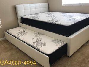 💥New Full_Twin Trundle bed with new Mattresses included💥 for Sale in Fresno, CA