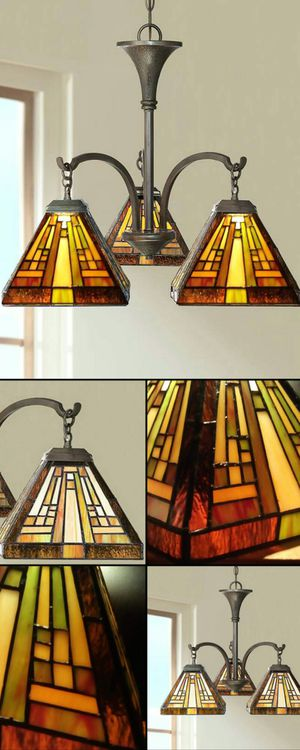 "Quoizel Stephen 19"" Tiffany Glass Chandelier Brand New in Box for Sale in Boca Raton, FL"