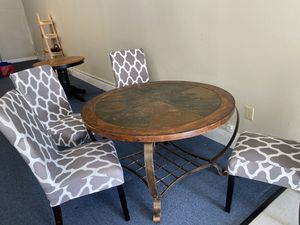 Slate top table with 4 chairs for Sale in Pelzer, SC