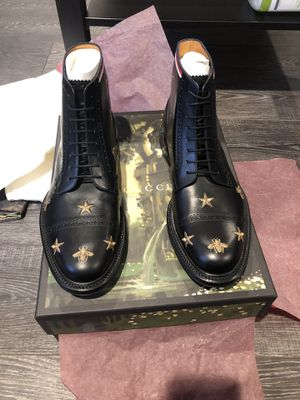 Gucci Boots Gucci Leather Embroidered Brogue Boot Black. for Sale in San Diego, CA