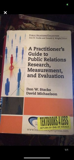 A Practitioner's Guide to Public Relations Research, Measurement & ... for Sale in Queens, NY