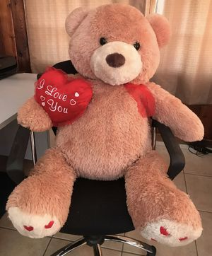 Giant teddy bear plush stuffed animal valentines for Sale in Clermont, FL