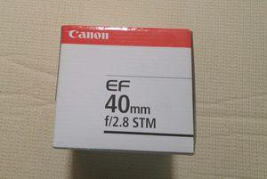 Brand new 40mm anon stm lens for Sale in Fairfax, VA