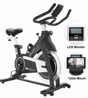 Exercise Bike Stationary Indoor Cycling Bike 35 lbs Flywheel Belt Drive Workout Bicycle Training LCD Monitor / Ipad Mount / Adjustable Handlebar for for Sale in Rancho Cucamonga, CA