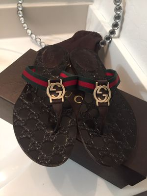 Authentic Gucci sandals size 8 for Sale in Tolleson, AZ
