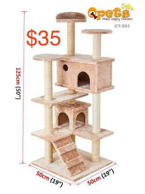 """New cat tree house 35lbs heavy sturdy tower 50"""" high for Sale in Ontario, CA"""