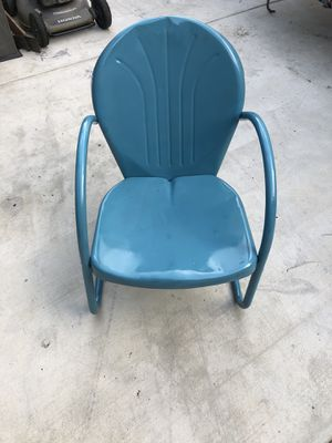 Antique metal chair for Sale in Corona, CA