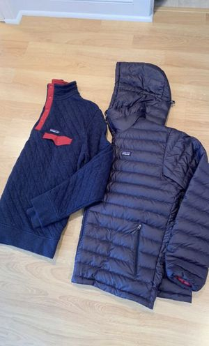 Patagonia Down Sweater + Patagonia Quilt SnapT Pullover for Sale in Colonial Beach, MD