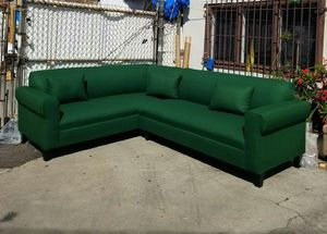 NEW EMERALD GREEN FABRIC SECTIONAL COUCHES for Sale in San Bernardino, CA