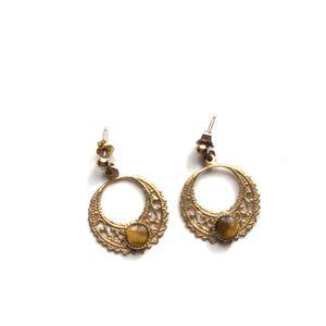 Gold earrings ✨ #gold #earrings #amber #pearl #hoops for Sale in Stanton, CA