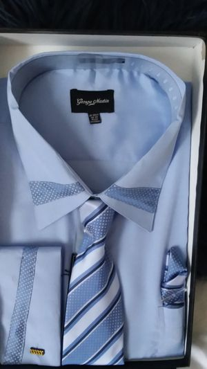 Light blue long-sleeve dress shirt with tie for Sale in Bel Air, MD