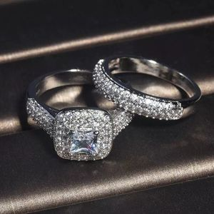 Stamped 925 Sterling Silver Engagement / Promise / Wedding ring Set - Code DBL110 for Sale in Sacramento, CA