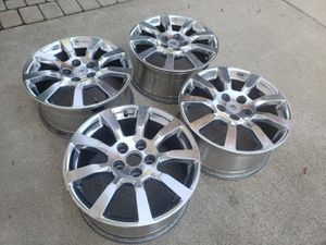 "18"" 2008 Cadillac CTS Factory 9597873 OEM STOCK WHEELS RIMS POLISHED SET OF 4 5x120 for Sale in Oak Lawn, IL"