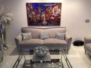 Selling my sofa love chair and arm chair for Sale in Pompano Beach, FL