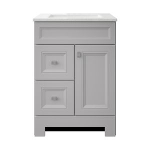 H.D.C. Sedgewood 24-1/2 in. Bath Vanity in Dove Gray with Solid Surface Technology Vanity Top for Sale in Dallas, TX
