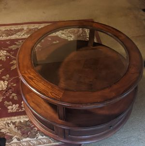 Coffee table Solid wood, on wheels for Sale in Pittsburgh, PA