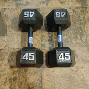 New 90lb Dumbbell Set 45lb Pair for Sale in Tacoma, WA