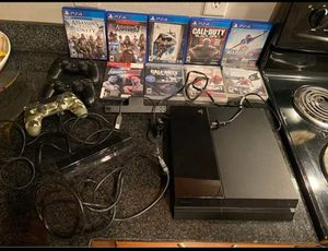 PlayStation 4 with games for Sale in Bay City, MI