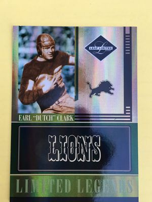 "EARL ""DUTCH"" CLARK • 2006 LEAF LIMITED, LIMITED LEGENDS # LL-17 • 18/50 • LIONS • for Sale in Orange, CA"