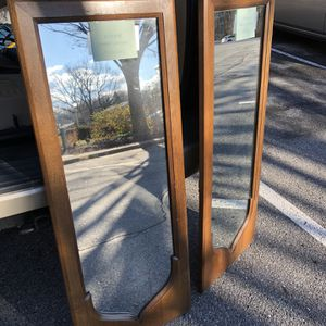 2 solid walnut mirrors from the late 60's for Sale in Rockville, MD
