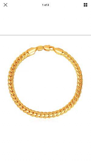 Gold plated bracelet 18k stamped for Sale in Silver Spring, MD