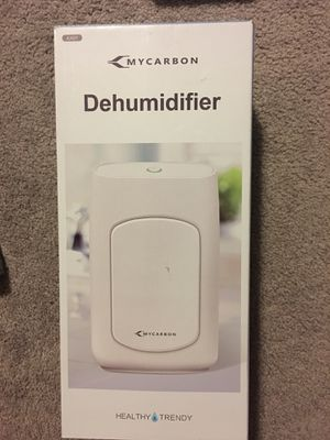 MYCARBON Small Dehumidifier, Dehumidifier, Mini Dehumidifier 700ml (24fl.oz) 1200 Cubic Feet(215 sq ft) Portable Dehumidifier Energy Efficient Ultra for Sale in Powell, OH