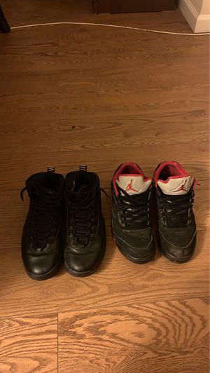 Jordan 10 nyc and Jordan 5 alternate 90 size 9.5 for Sale in Sterling, VA
