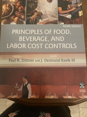 Principals of Food Beverage and Cost Controls Book for Sale in Deer Park, TX