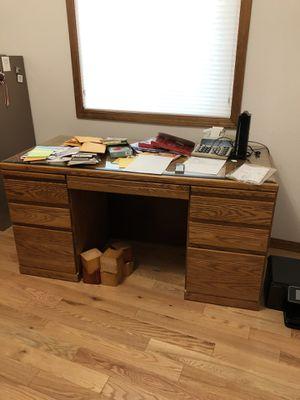 Oak desk- FREE for Sale in Vancouver, WA
