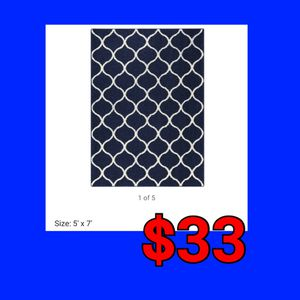 NEW Navy Allomore Zone 5x7 Area Rug: njft hsewres home decor for Sale in Burlington, NJ