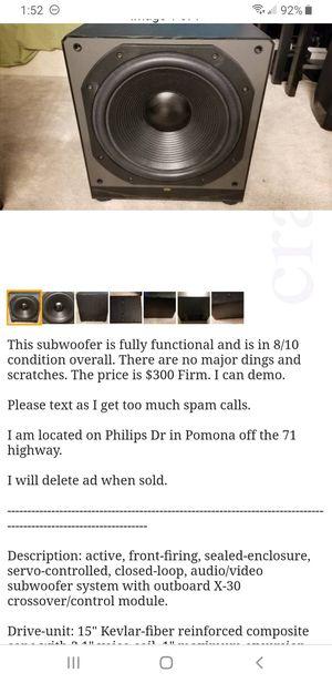 Paradigm Servo 15a v1 Subwoofer Speaker for Sale in Pomona, CA
