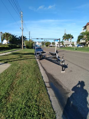 22 ft + aluminum trailer dual axle for Sale in Clearwater Beach, FL