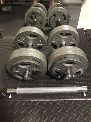 Bowflex Alternative — Pair of Adjustable 55 lbs Dumbbells with Barbell Connector (115 lbs total) for Sale in Piedmont, CA