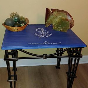 Wood And Metal Nautical Accent Table / Coffee Table / Side Table for Sale in Chesapeake, VA