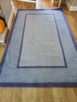 Potterybarn blue 5×7 rug for Sale in Alta Loma, CA