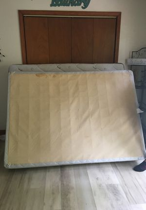 Full size canopy bed frame , mattress and box spring included $100.00 for Sale in Charleston, WV