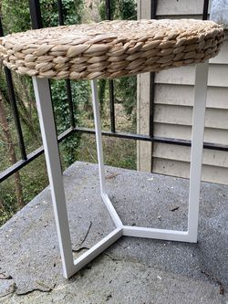 Three Leg Woven Top Side Table for Sale in Oregon City,  OR