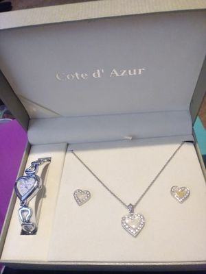 Watch, necklace, and earrings gift set for Sale in Tempe, AZ
