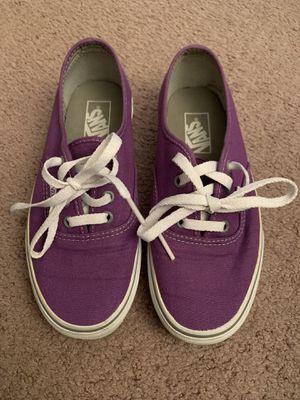 Purple/White Vans Women's Size 7 Men's Size 5.5 for Sale in Ontario, CA