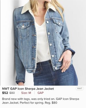 NWT GAP Icon Sherpa Jean Jacket for Sale in Portland, OR