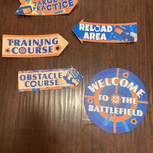 Nerf Gun Party Theme Decorations for Sale in Norco, CA