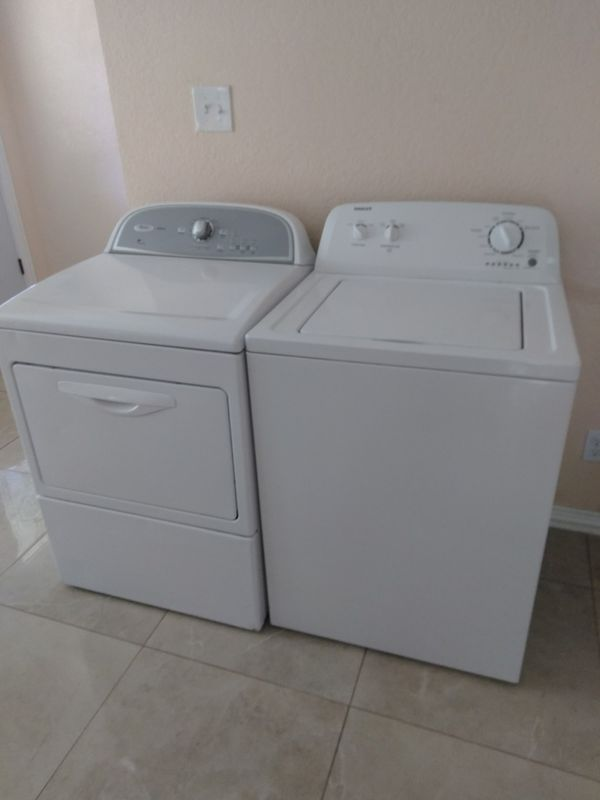 ROPER WASHER AND WHIRLPOOL ELECTRIC DRYER ////////////////////////////////// LAVADORA ROPER Y SECADORA ELÉCTRICA WHIRLPOOL