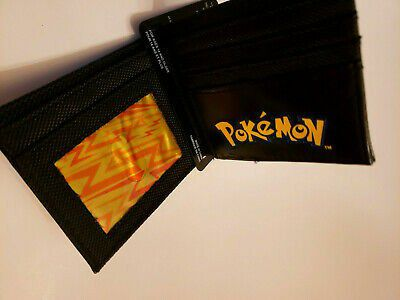 Happy Pokemon Pikachu With Lighting Fold Out Wallet